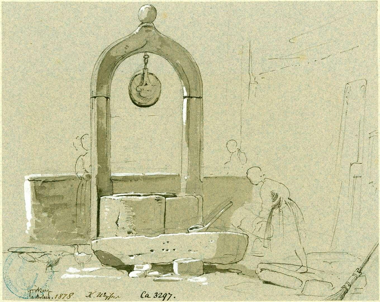 Grötzingen Ziehbrunnen mit Steinbogen, Bild 1