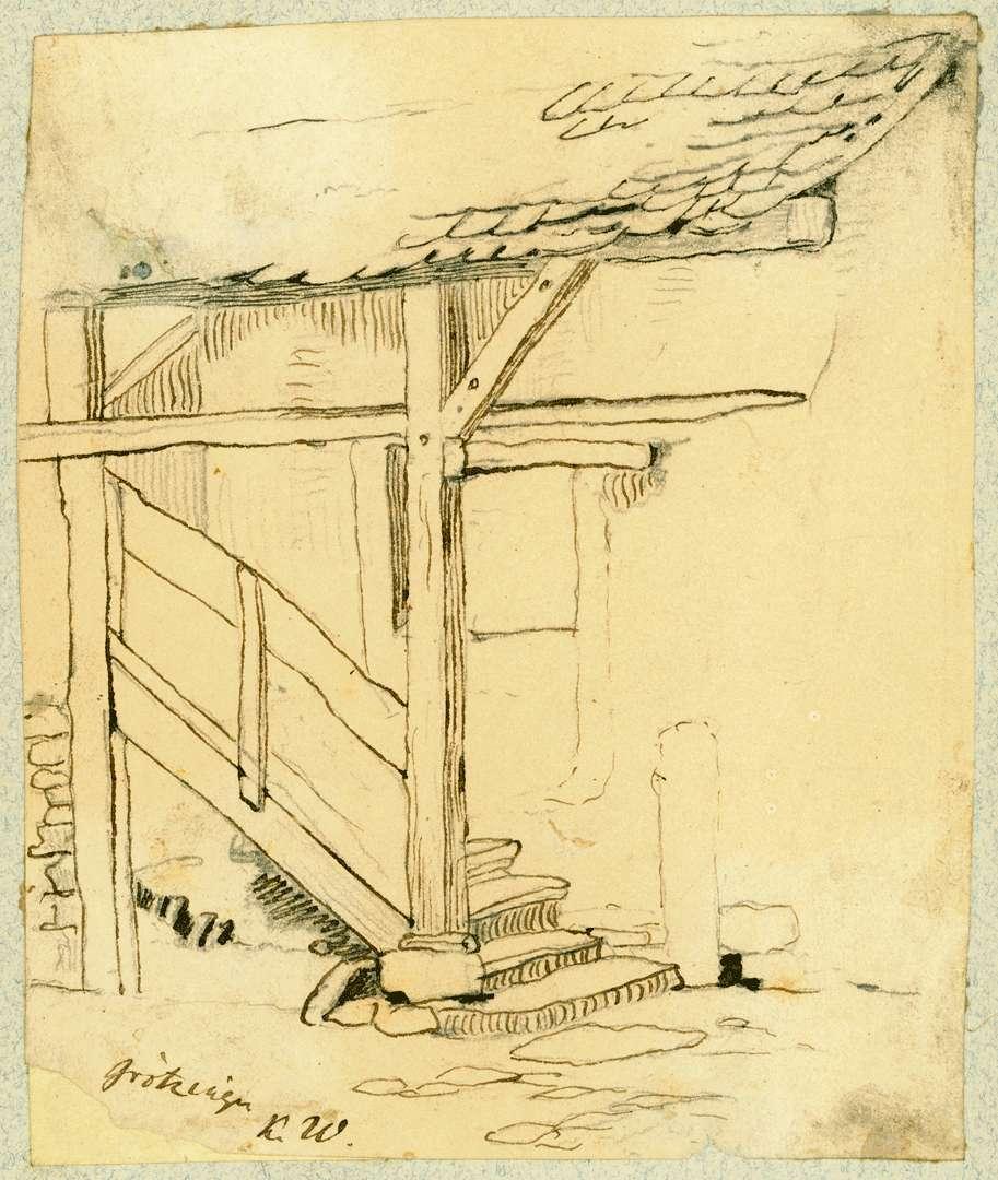 Grötzingen Überdachter Treppenaufgang, Bild 1