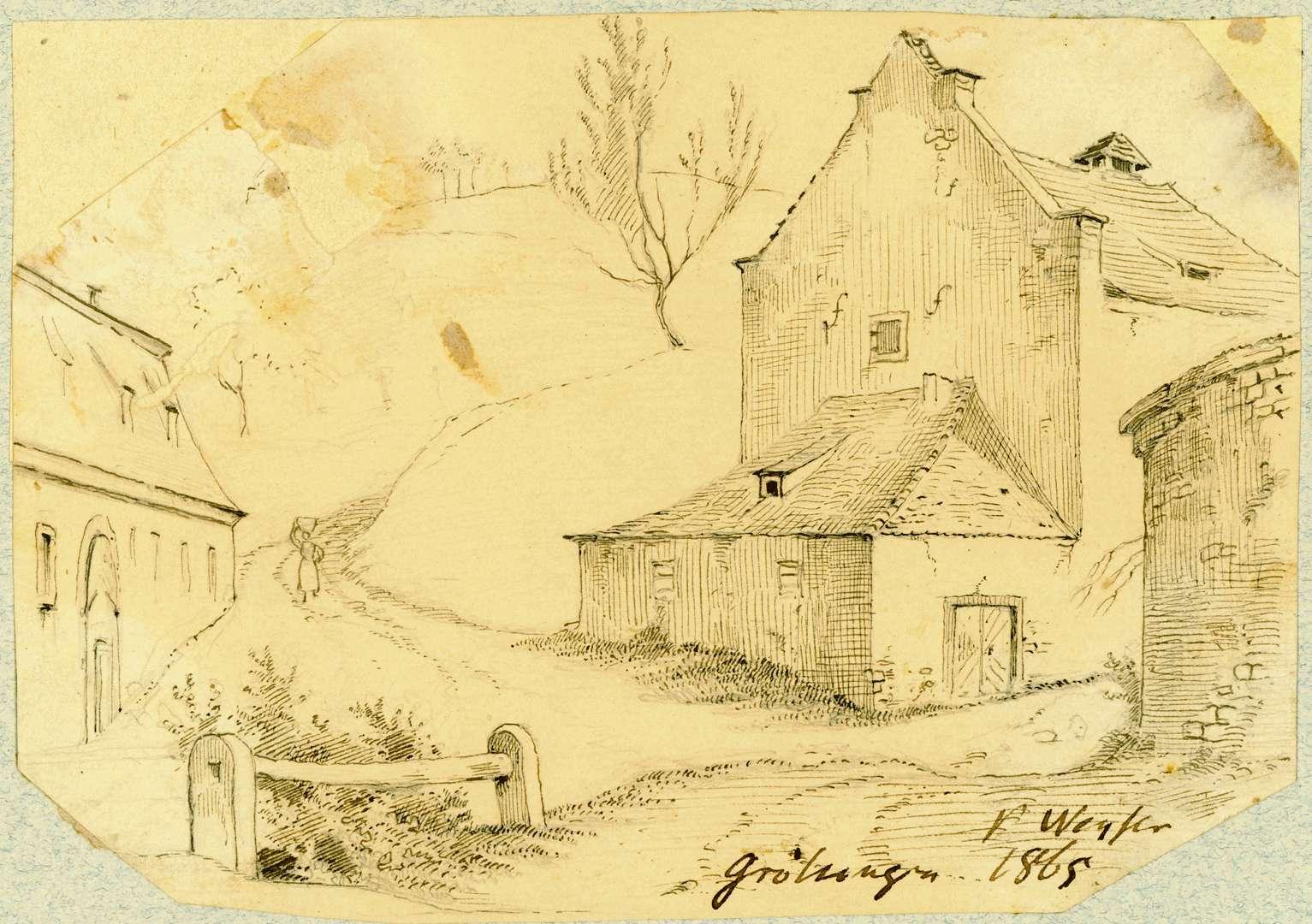 Grötzingen Gebäude gegenüber Augustenburg, Bild 1