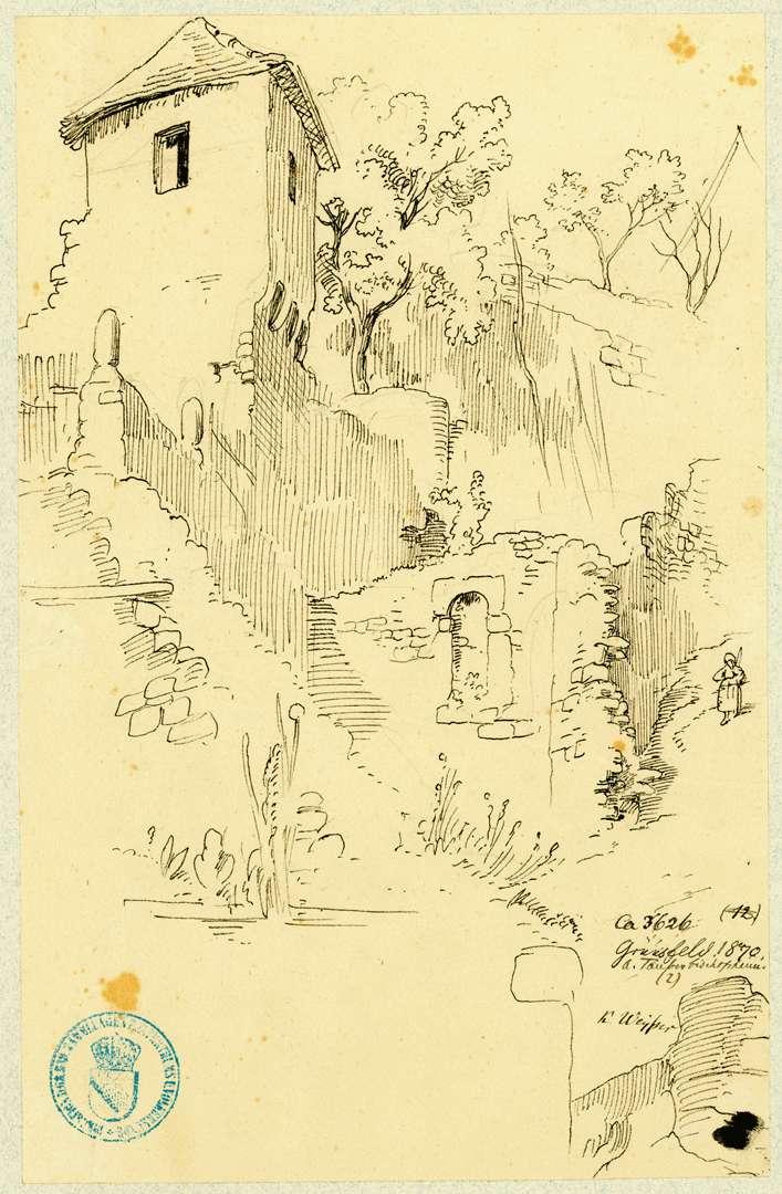 Grünsfeld Partie an der Stadtmauer, Bild 1