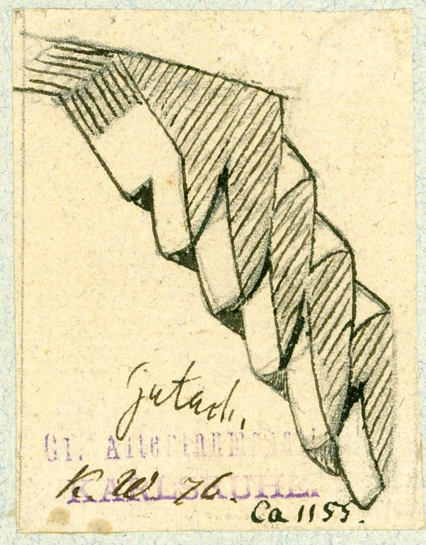 Gutach Kurzer geschnitzter Strebepfeiler vom Dach, Bild 1
