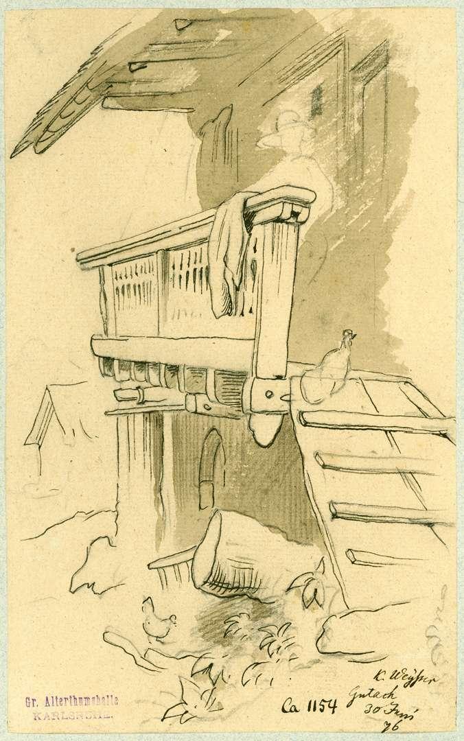 Gutach Hauswand Bauernhaus mit Balkon, Bild 1