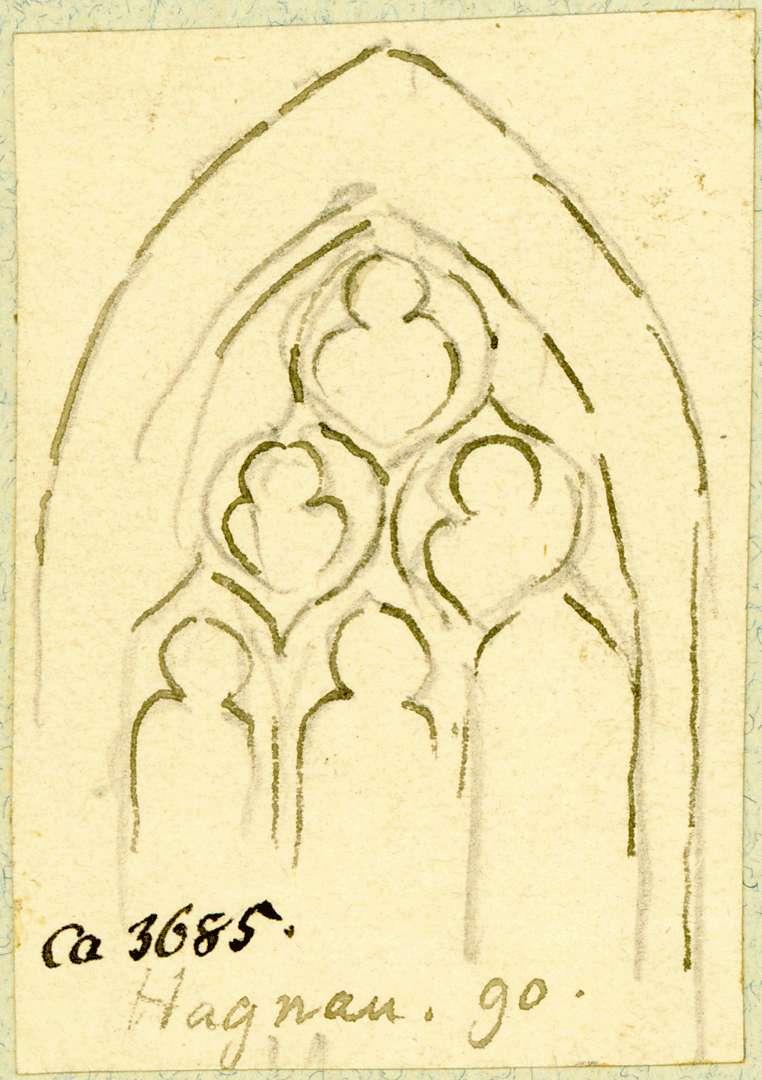 Hagnau Kirchenfenster mit gotischem Maßwerk, Bild 1