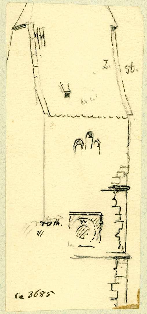 Hagnau Teilstück Turm St. Georgskirche, Bild 1