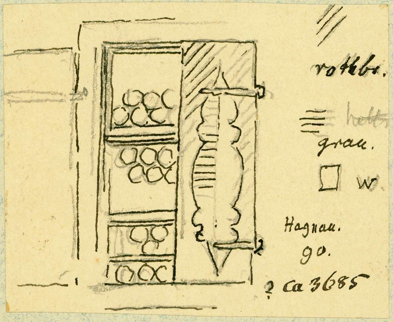 Hagnau Halbgeschlossenes Fenster mit Läden, Bild 1