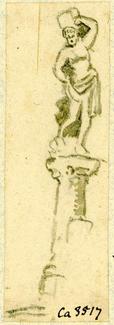 Haslach Marktbrunnensäule mit dem heiligen Sebastian, Bild 1
