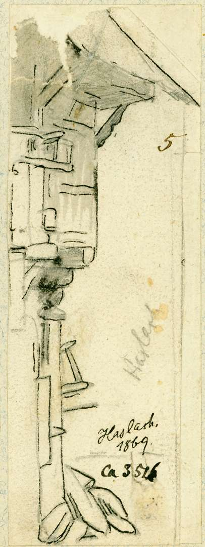 Haslach Ecke eines Fachwerkhauses, Bild 1