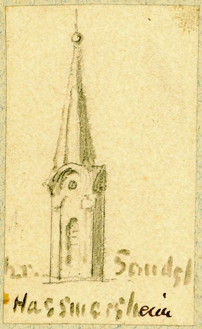 Haßmersheim Turmspitze Pfarrkirche, Bild 1