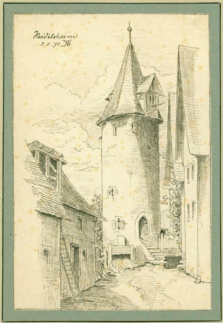 Heidelsheim Runder Stadtturm, Bild 1
