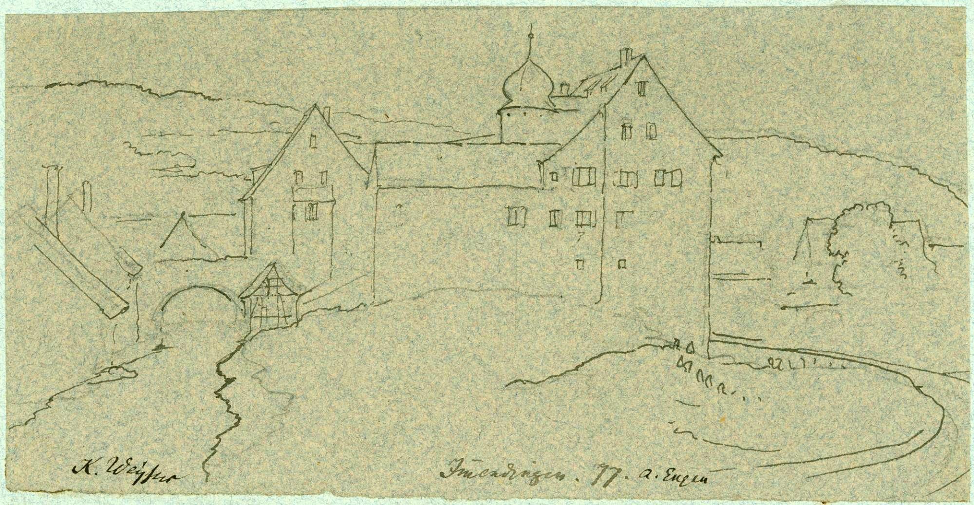 Immendingen Ansicht vom Oberen Schloss, Bild 1