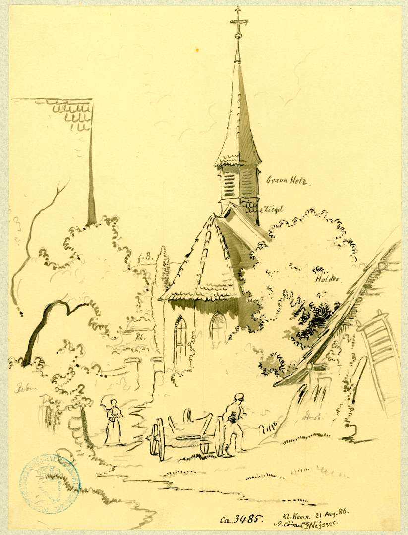 Kleinkems Kapelle zwischen Bäumen, Bild 1