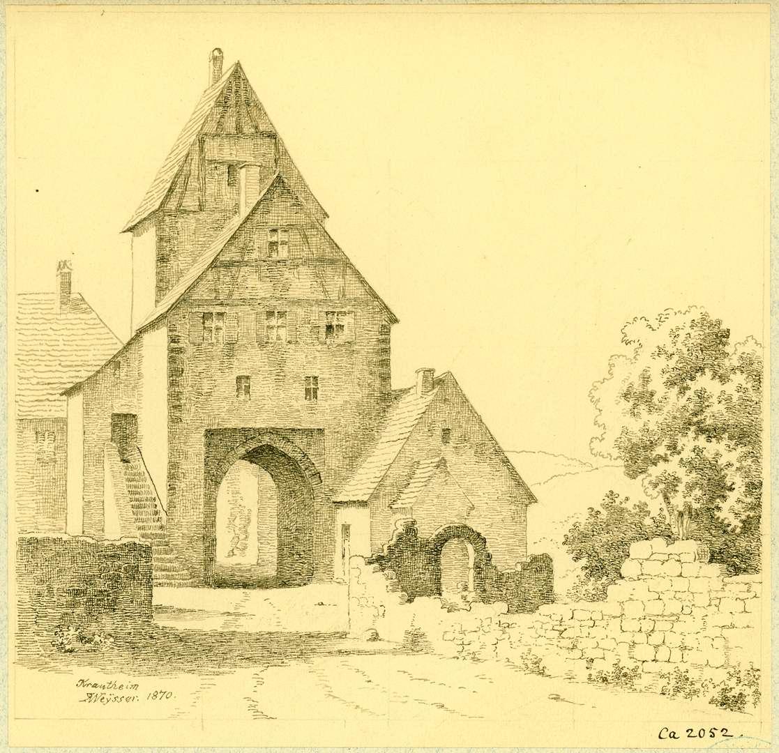 Krautheim Feldseitige Ansicht Stadttor, Bild 1