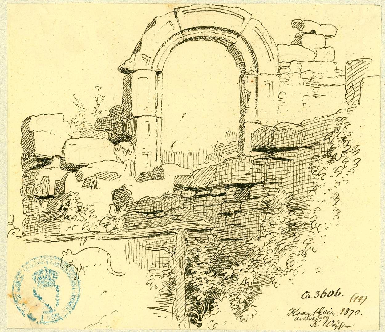 Krautheim Torbogen im Burgbereich, Bild 1