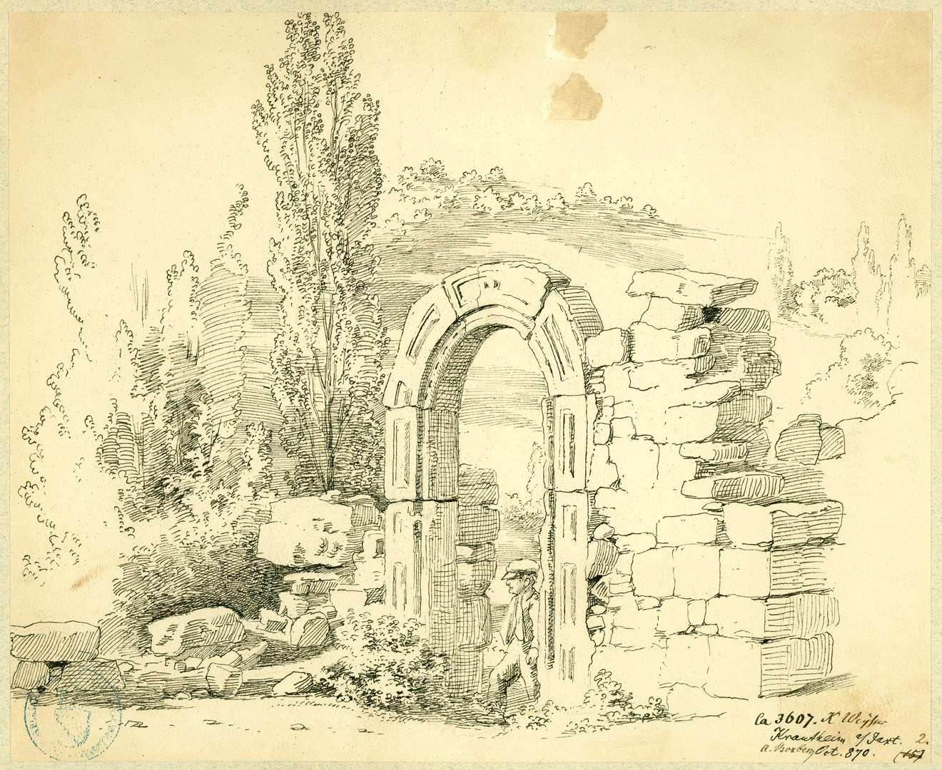 Krautheim Torbogen im Bereich der Burganlage, Bild 1