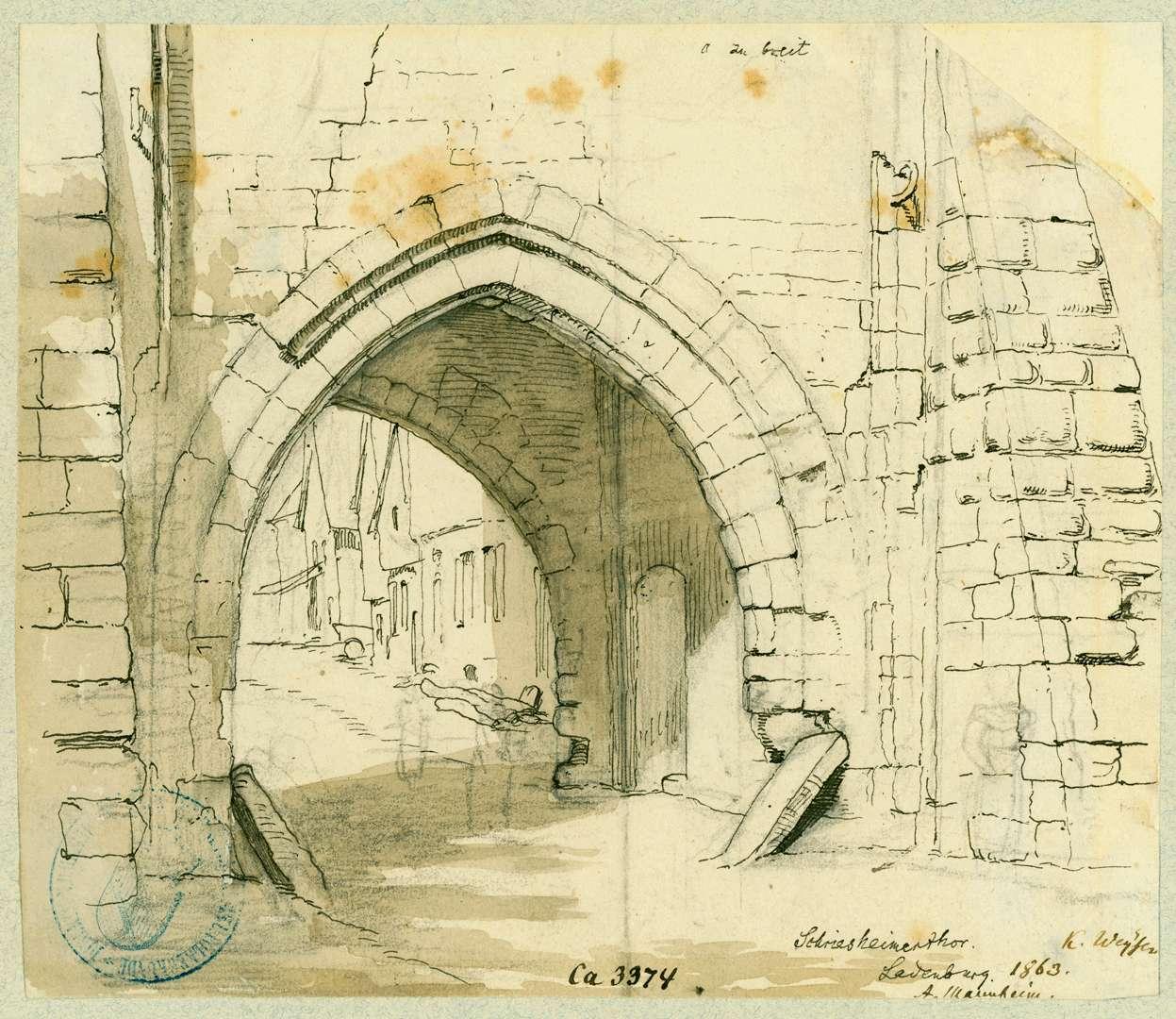 Ladenburg Schriesheimer Tor, Bild 1