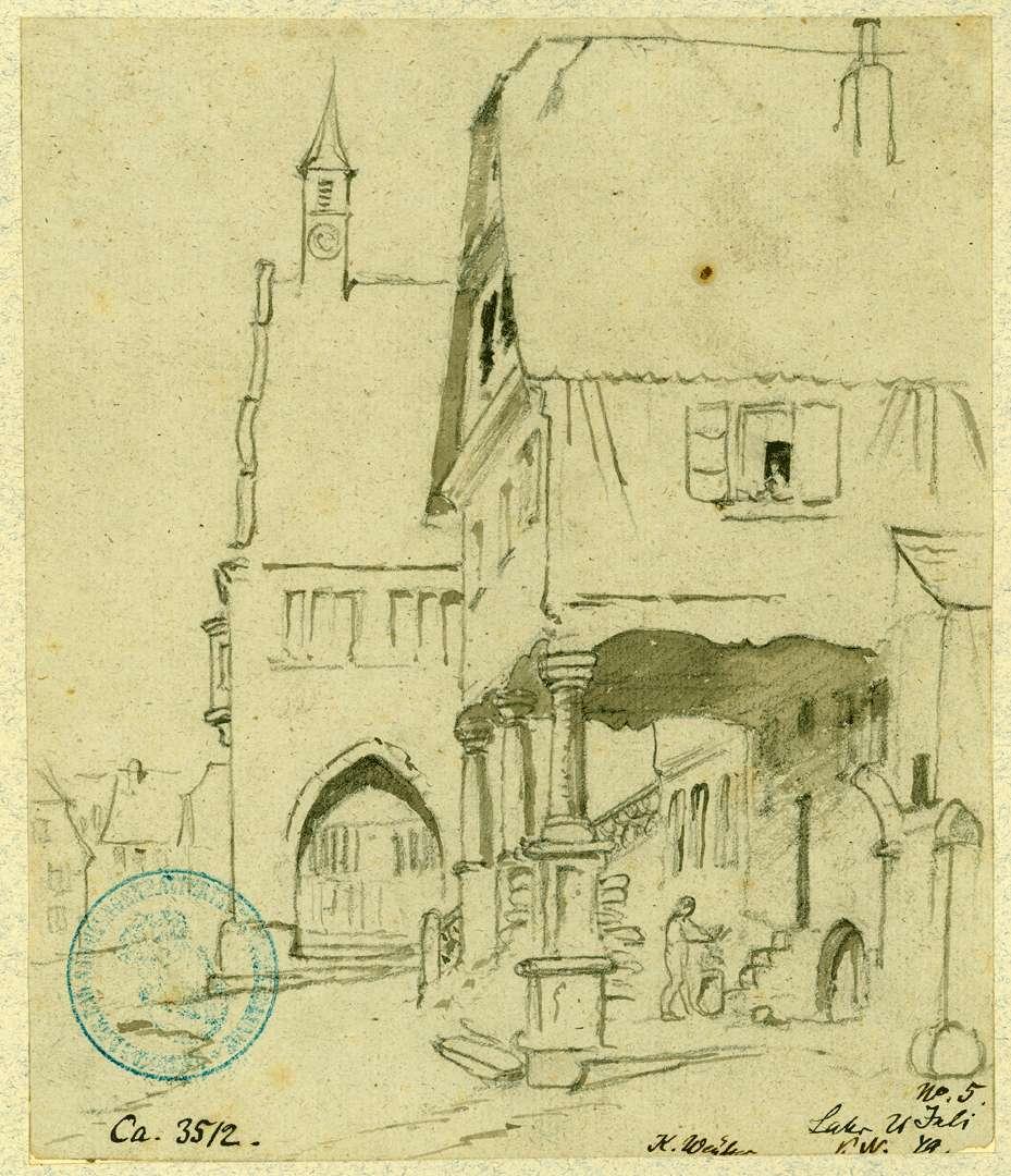 Lahr Altes Rathaus mit Brauch