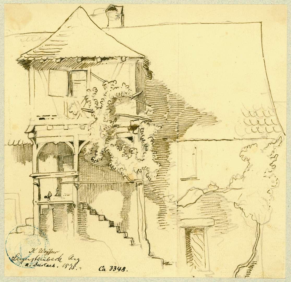 Langensteinbach Haus mit Treppenvorbau, Bild 1