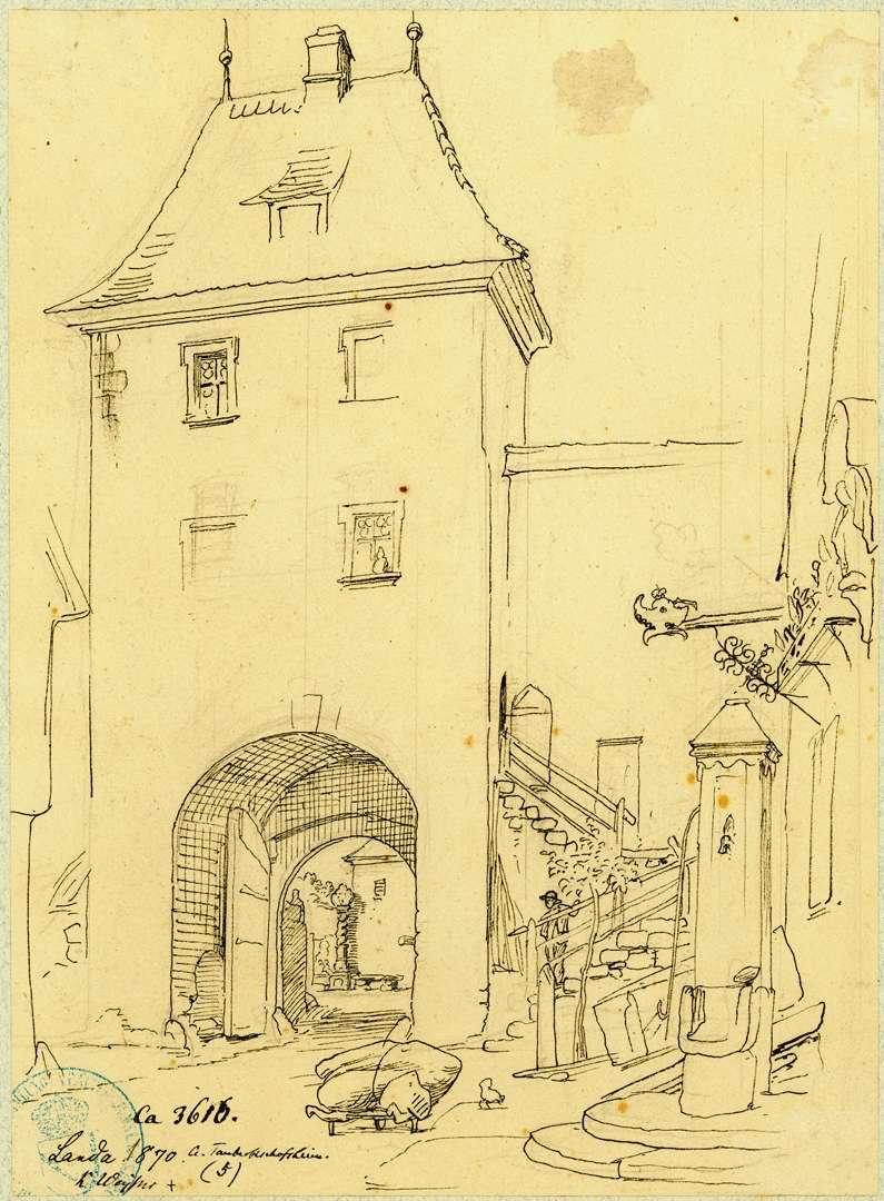 Lauda Stadtseitige Ansicht Obertor, Bild 1