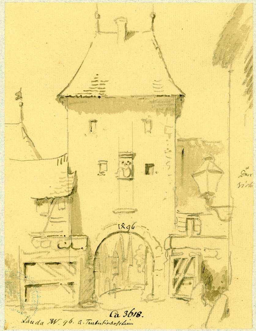 Lauda Feldseitige Ansicht Oberes Tor, Bild 1