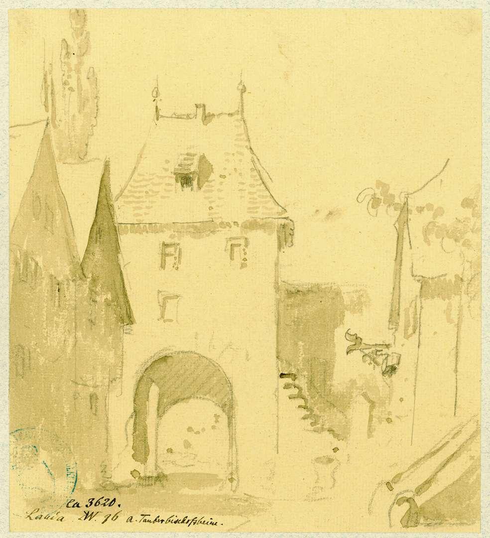 Lauda Stadtseitige Ansicht Oberes Tor, Bild 1