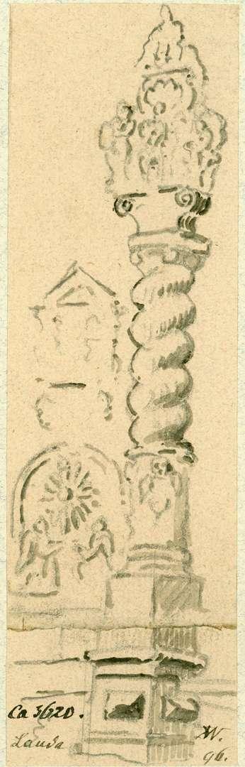 Lauda Barocker Bildstock mit kleinem Altar, Bild 1