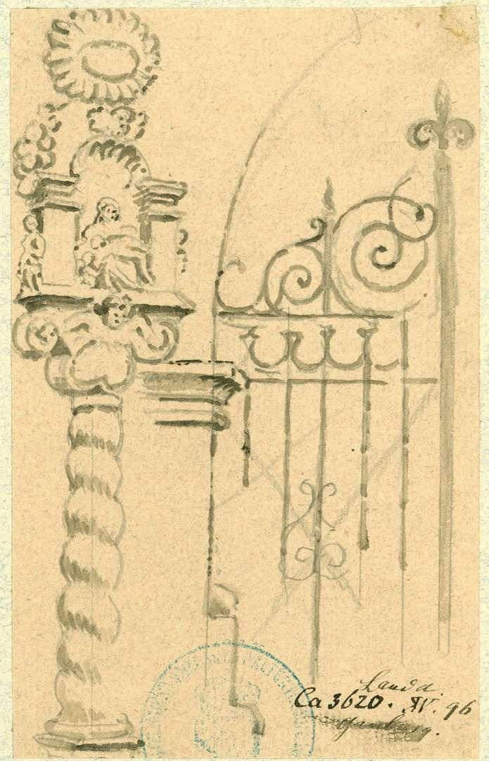 Lauda Bildstock am Friedhofseingang, Bild 1