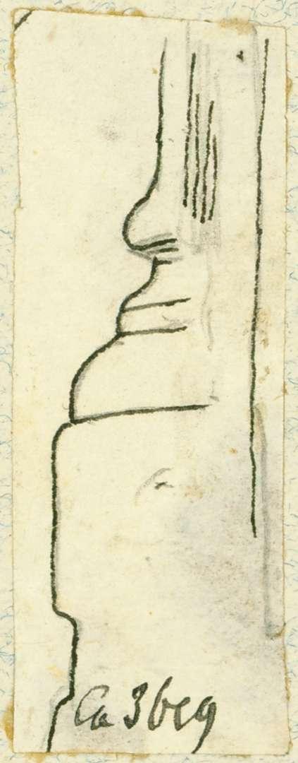 Lauda Detailzeichnung Hofportal würzburgische Kellerei, Bild 1