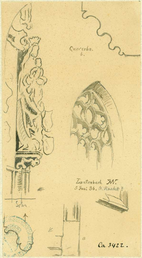 Lautenbach Madonna und verschiedene Baudetails der Wallfahrtskirche, Bild 1