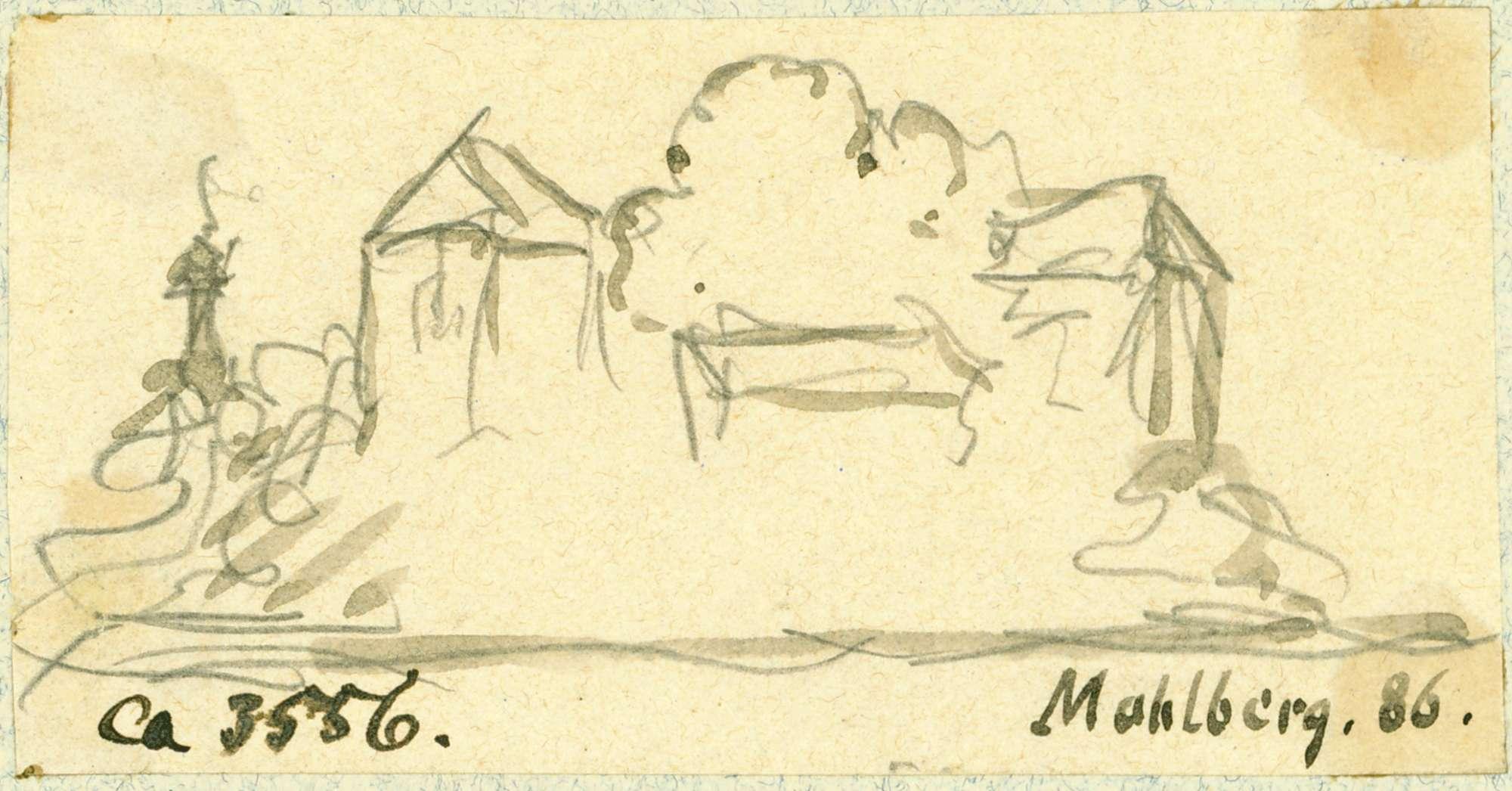 Mahlberg Schlossansicht aus nordwestlicher Richtung, Bild 1
