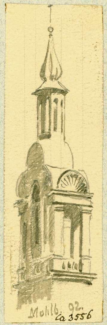 Mahlberg Obere Turmhälfte evangelische Pfarrkirche, Bild 1