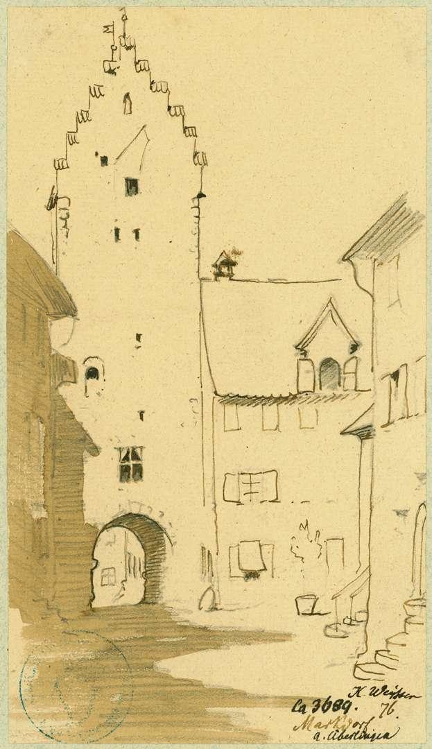 Markdorf Untertorturm mit Häuser am alten Stadtgraben, Bild 1