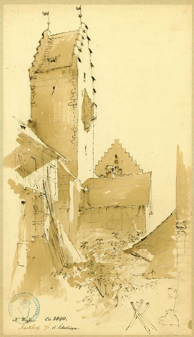 Markdorf Partie auf der Südseite Hexenturm, Bild 1