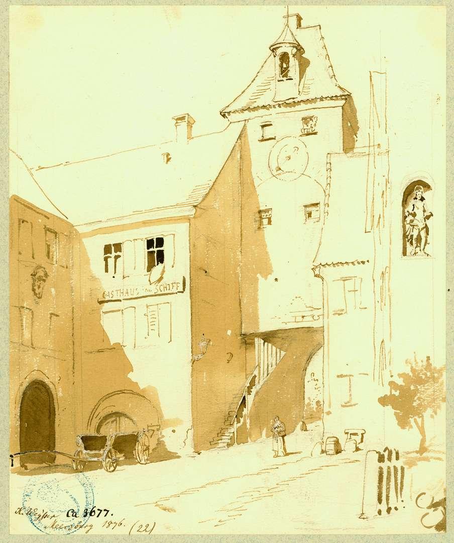 Meersburg Stadtseitige Ansicht Torturm in der Unterstadt, Bild 1