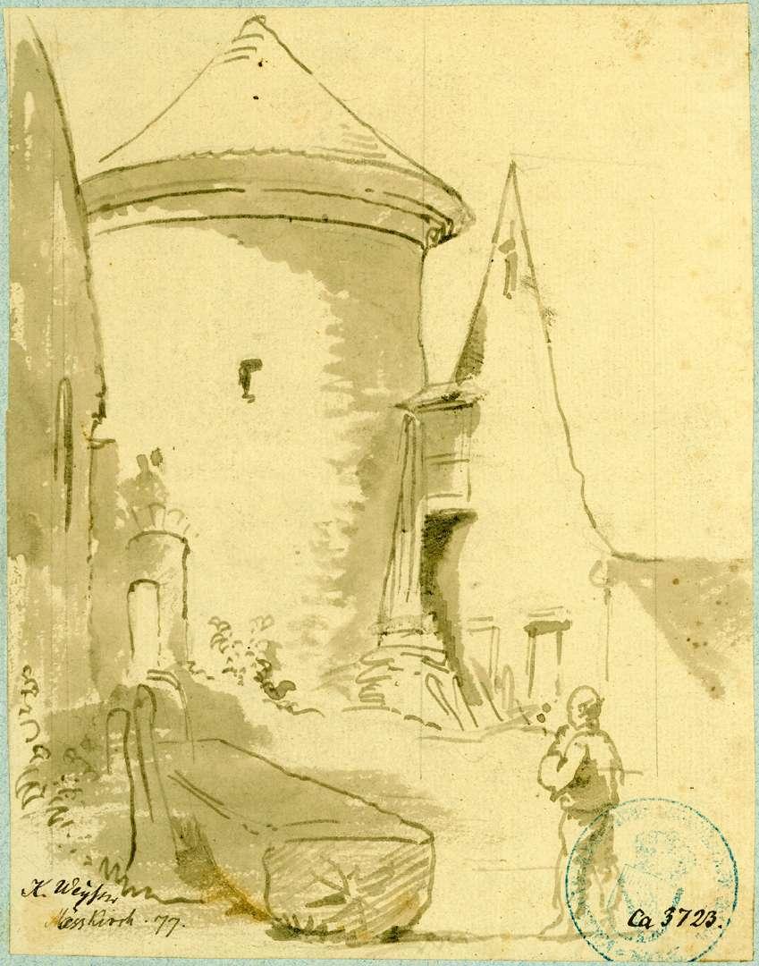 Meßkirch Niederer Rundturm der Stadtbefestigung, Bild 1