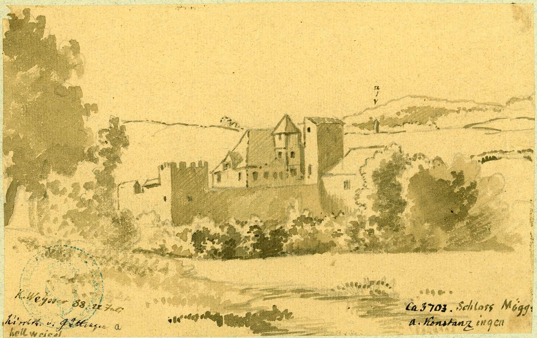 Möggingen Landschaft mit Schloss, Bild 1