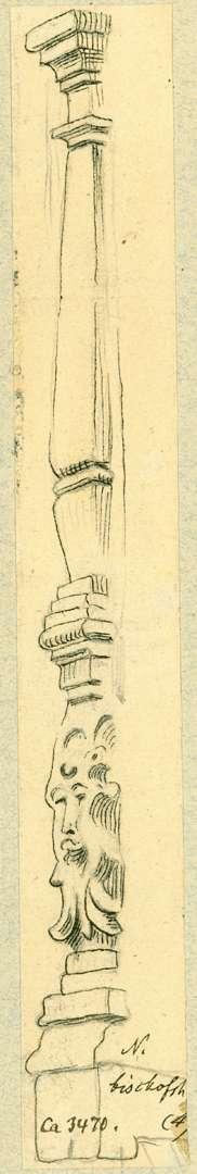 Neckarbischofsheim Pilaster mit Maske, Bild 1