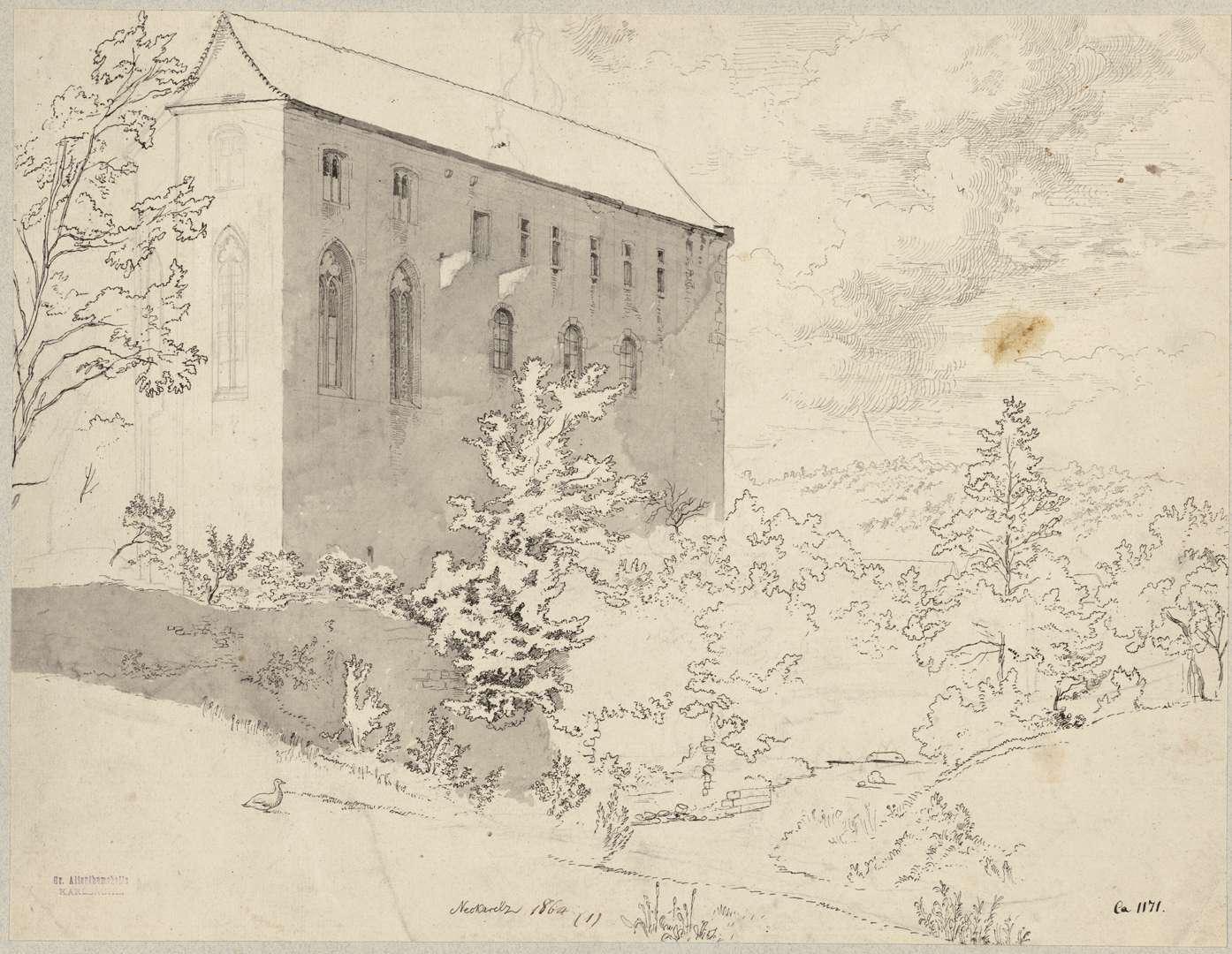 Neckarelz Ansicht Tempelhaus von Nordosten, Bild 1