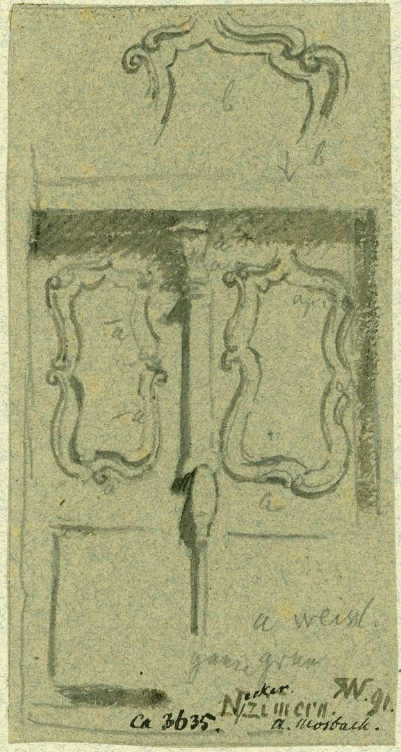 Neckarzimmern Barocke Türfüllung, Bild 1