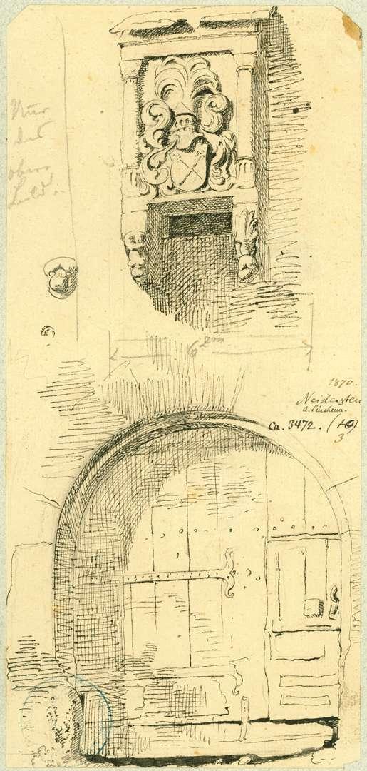 Neidenstein Außenansicht Torturm mit Wappen, Bild 1