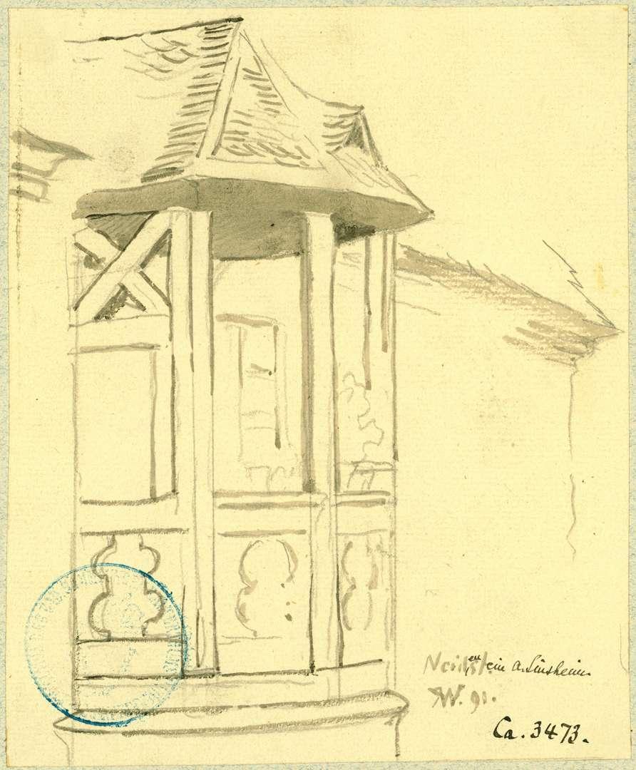 Neidenstein Obere Hälfte Treppenturm in der Vorburg, Bild 1