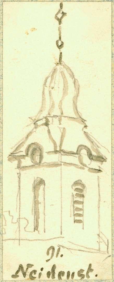 Neidenstein Turm Pfarrkirche, Bild 1