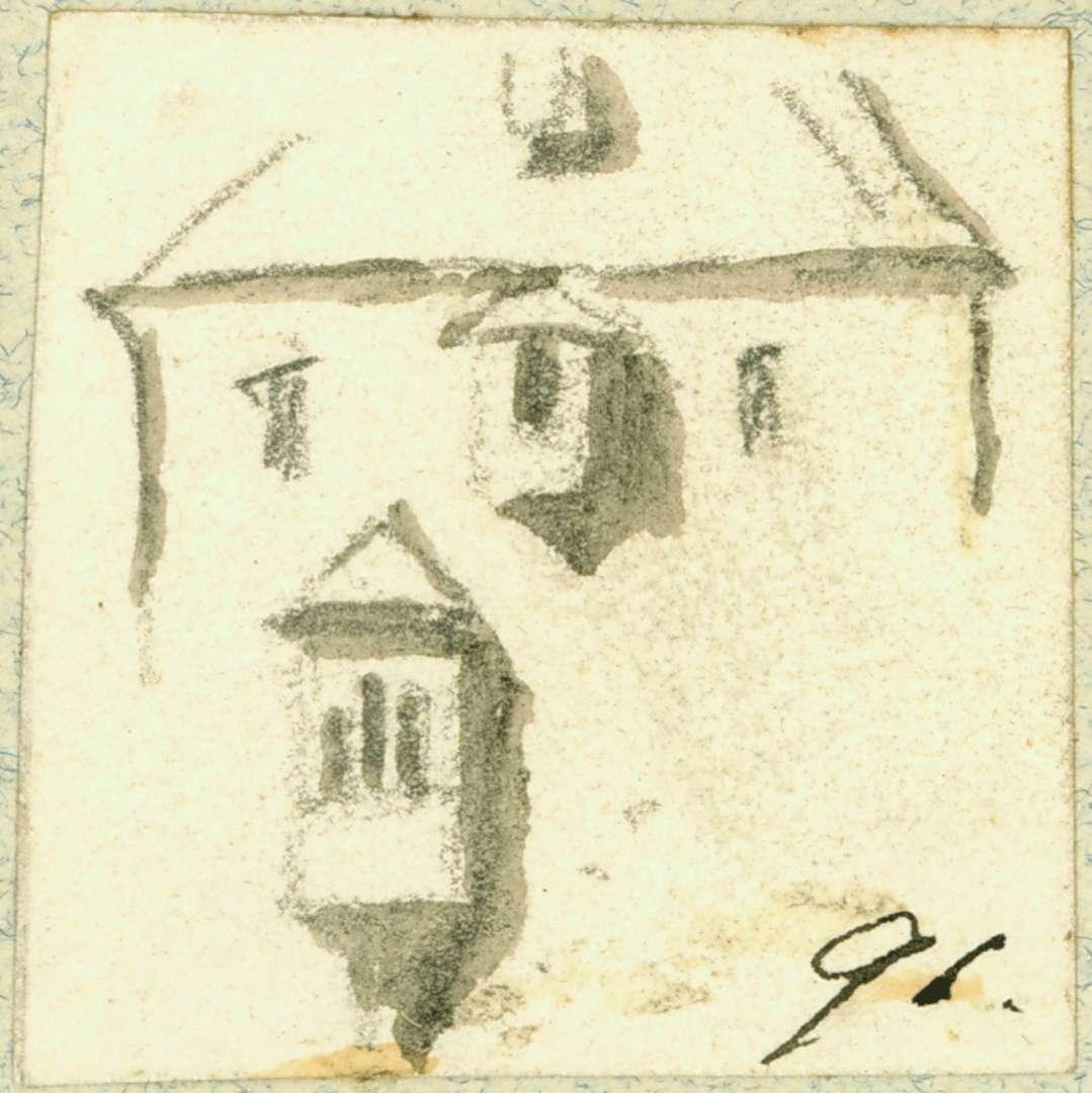 Neidenstein Gebäudewand mit Erkern, Bild 1