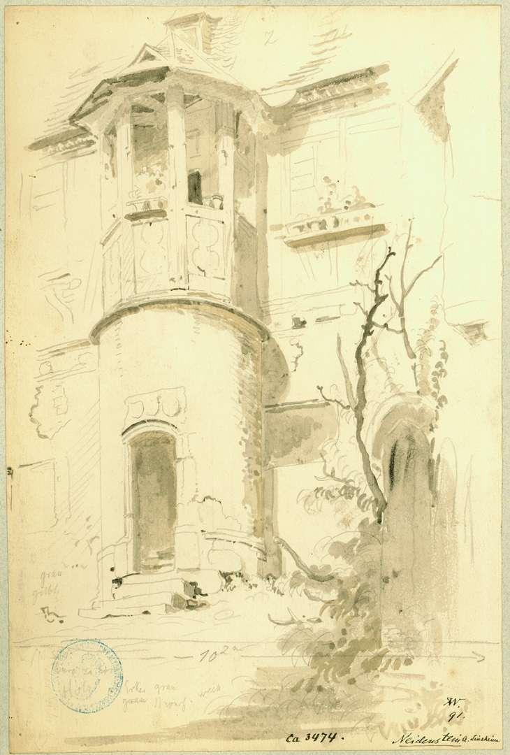 Neidenstein Treppenturm in der Vorburg, Bild 1