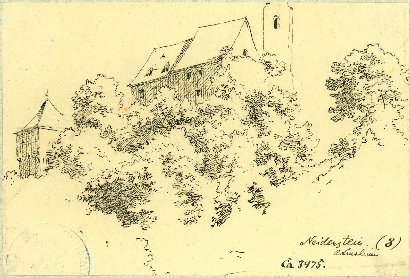 Neidenstein Burgansicht von Norden, Bild 1