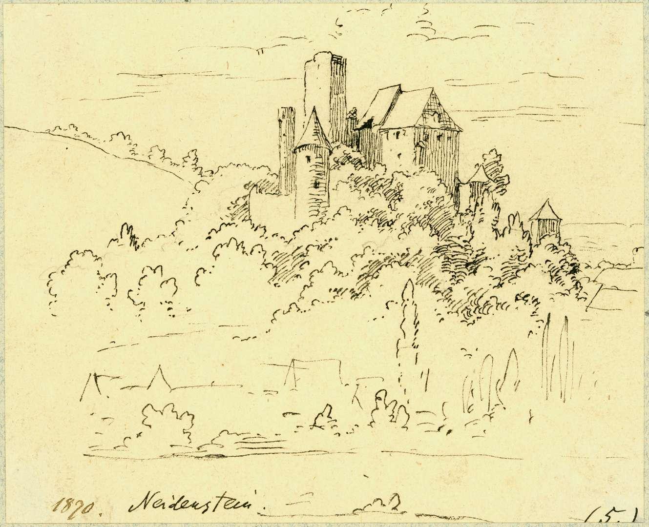 Neidenstein Burgansicht von Osten, Bild 1