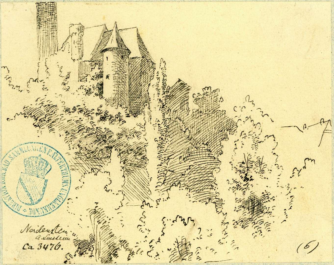 Neidenstein Burgansicht von Südosten, Bild 1