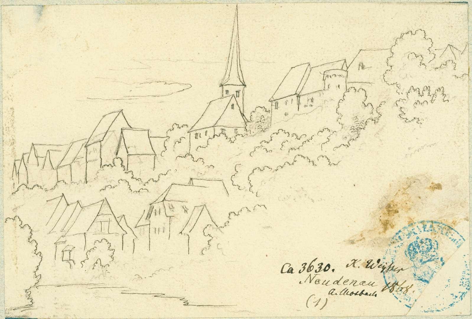 Neudenau Stadtansicht mit Pfarrkirche St. Laurentius, Bild 1