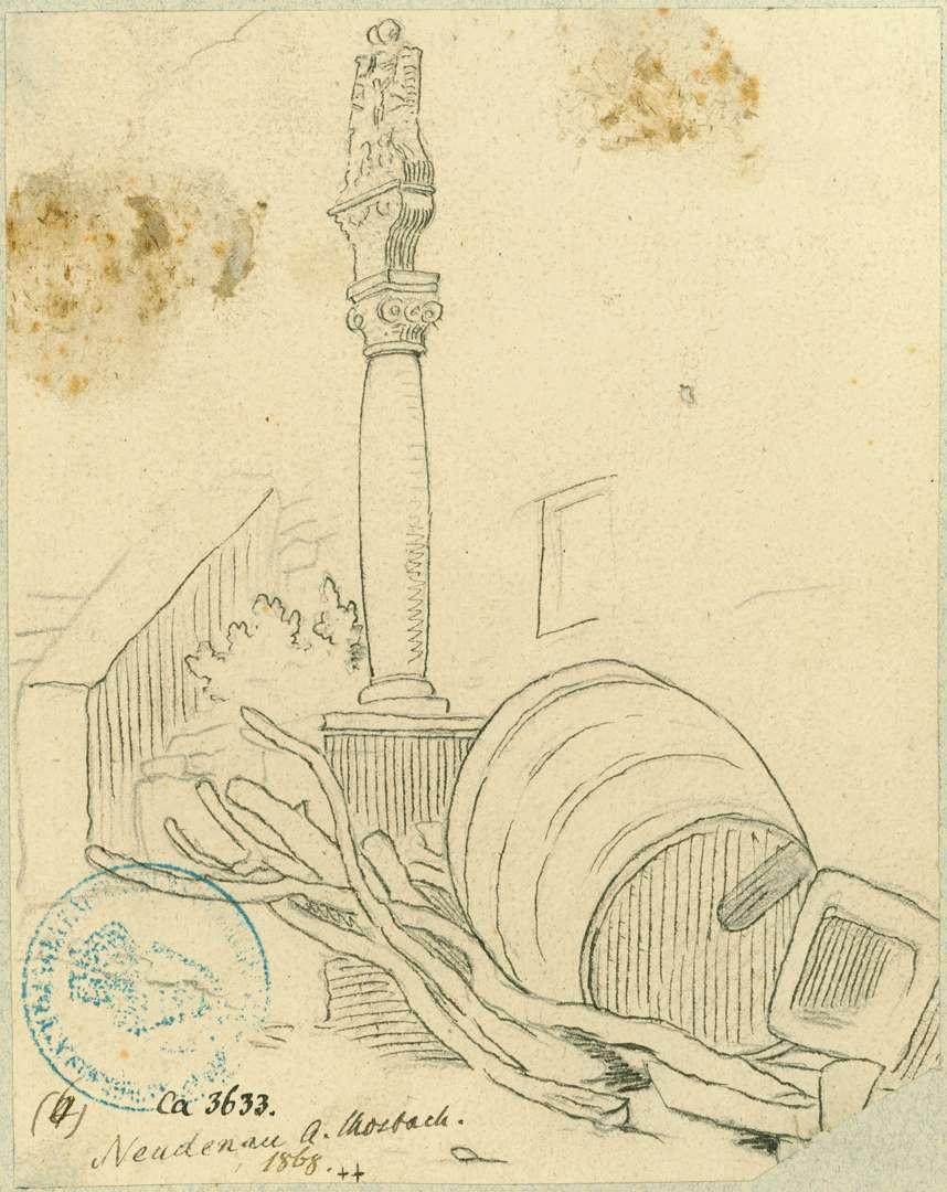 Neudenau Bildstock neben Treppenaufstieg, Bild 1