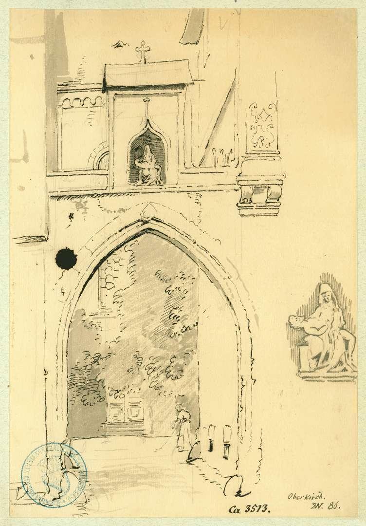 Oberkirch Gotischer Torbogen Schaffnei Allerheiligen mit Vesperbild, Bild 1