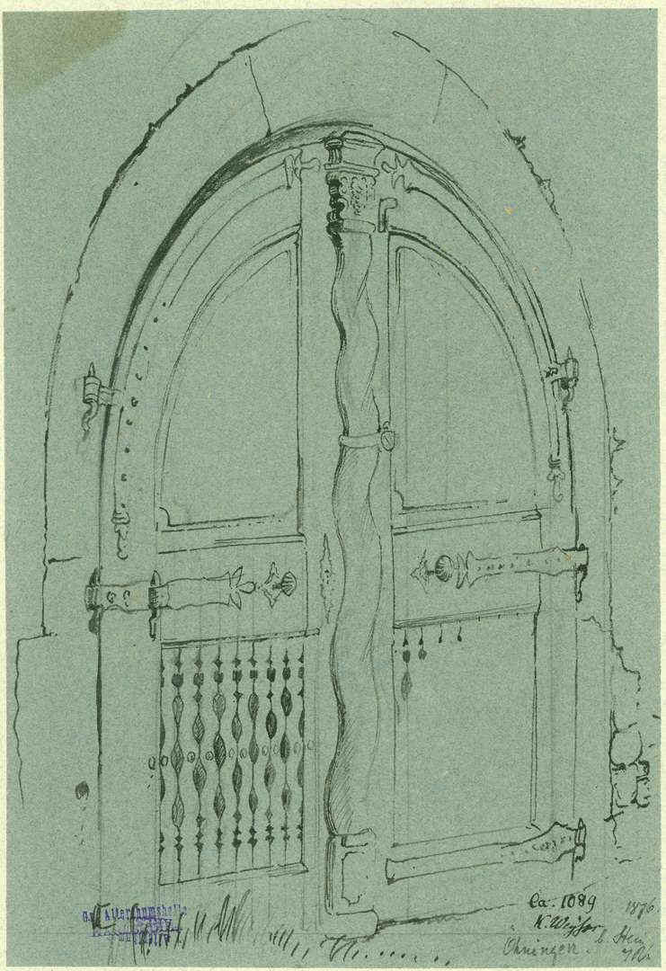 Öhningen Kellertüre aus Holz, Bild 1